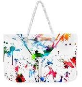 Martini Paint Splatter Weekender Tote Bag