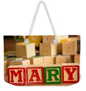 Mary - Alphabet Blocks Weekender Tote Bag