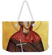 Mary In Brown  Weekender Tote Bag