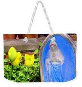 Mary In Springtime Weekender Tote Bag