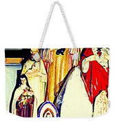 Mary Joseph And Jesus Vintage Religious Catholic Statues Patron Saints And Angels Cb Spandau Quebec Weekender Tote Bag
