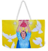 Mary Offers Her Child Jesus To His Father Weekender Tote Bag