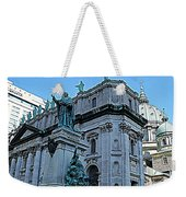 Mary Queen Of The World Cathedral - Side View In Hdr Weekender Tote Bag
