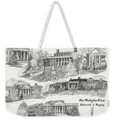 Mary Washington College Weekender Tote Bag