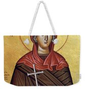 Mary With The Cross Weekender Tote Bag