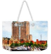 Maryland - Boats At Inner Harbor Baltimore Md Weekender Tote Bag