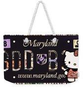 Maryland License Plate Weekender Tote Bag