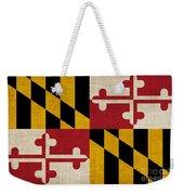 Maryland State Flag Weekender Tote Bag by Pixel Chimp
