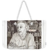 Mary In Marys Bar Cerrillos New Mexico Weekender Tote Bag