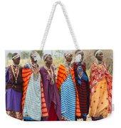 Masai Women Kenya Weekender Tote Bag