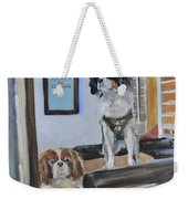 Mascots Of The Inn Weekender Tote Bag by Donna Tuten