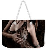 Mask And Lace Weekender Tote Bag