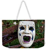 Mask And Ladybugs Weekender Tote Bag by Garry Gay