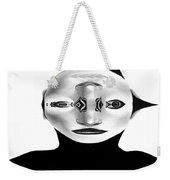 Mask Black And White Weekender Tote Bag