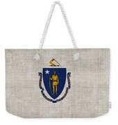 Massachusetts State Flag Weekender Tote Bag by Pixel Chimp