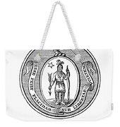 Massachusetts State Seal Weekender Tote Bag