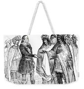 Massasoit Forges Treaty With Pilgrims Weekender Tote Bag