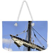 Mast And Rigging On A Replica Of The Christopher Columbus Ship P Weekender Tote Bag