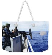 Master-at-arms Fires A .50-caliber Weekender Tote Bag