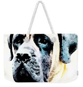 Mastif Dog Art - Misunderstood Weekender Tote Bag by Sharon Cummings