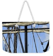 Masts And Rigging On A Replica Of The Christopher Columbus Ship  Weekender Tote Bag