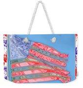 Matalic Flag Weekender Tote Bag
