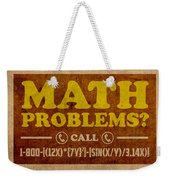 Math Problems Hotline Retro Humor Art Poster Weekender Tote Bag by Design Turnpike