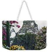 Matterhorn Mountain With Flowers At Disneyland Weekender Tote Bag