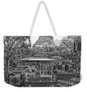 Matterhorn Mountain With Hot Popcorn At Disneyland Bw Weekender Tote Bag