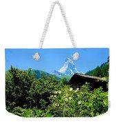 Matterhorn With Mountain Chalet Weekender Tote Bag