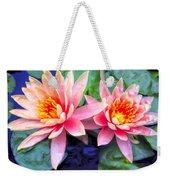 Maui Lotus Blossoms Weekender Tote Bag
