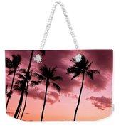 Maui Silhouette Sunset Weekender Tote Bag