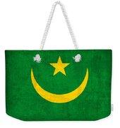 Mauritania Flag Vintage Distressed Finish Weekender Tote Bag