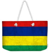 Mauritius Flag Vintage Distressed Finish Weekender Tote Bag