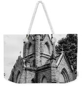 Mausoleum New England Black And White Weekender Tote Bag