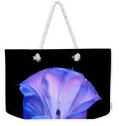 Mauve Blue Black Angels Trumpet Weekender Tote Bag