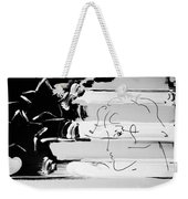 Max Stars And Stipes In Black And White Weekender Tote Bag