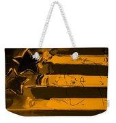 Max Stars And Stripes In Orange Weekender Tote Bag