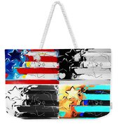 Max Stars And Stripes In Quad Colors Weekender Tote Bag