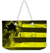 Max Stars And Stripes In Yellow Weekender Tote Bag