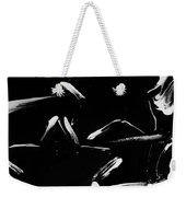 Max Two Stars In Black And White Weekender Tote Bag