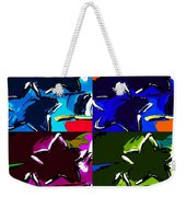 Max Two Stars In Pf Quad Colors Weekender Tote Bag