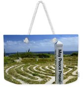 May Peace Prevail On Earth Peace Labyrinth Aruba Weekender Tote Bag