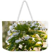 May Pear Blossoms Weekender Tote Bag