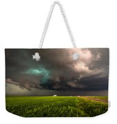 May Thunderstorm - Storm Twists Over House On Colorado Plains Weekender Tote Bag