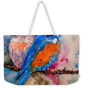 Maybe She's A Bluebird Cropped Weekender Tote Bag