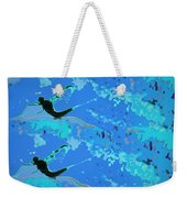 Mayfly Abstract Blue Weekender Tote Bag