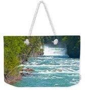Mcdonald Creek Falls In Glacier Np-mt Weekender Tote Bag