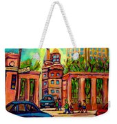Mcgill University Roddick Gates Montreal Weekender Tote Bag
