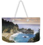 Mcway Cove Falls In Big Sur Weekender Tote Bag